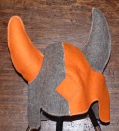 Saunahat Vikings Grijs/oranje