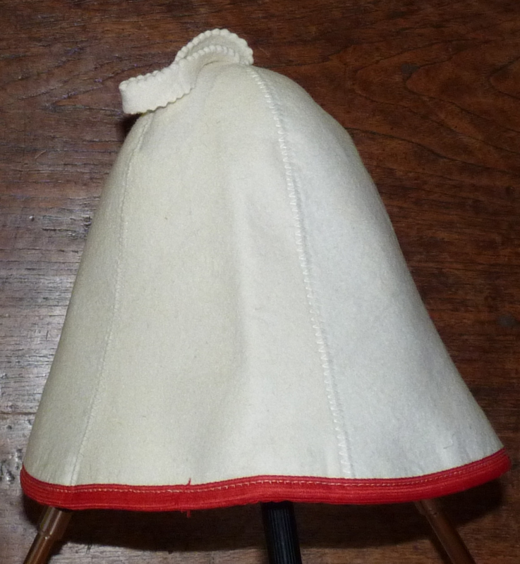 Saunahat Blanco met rode rand