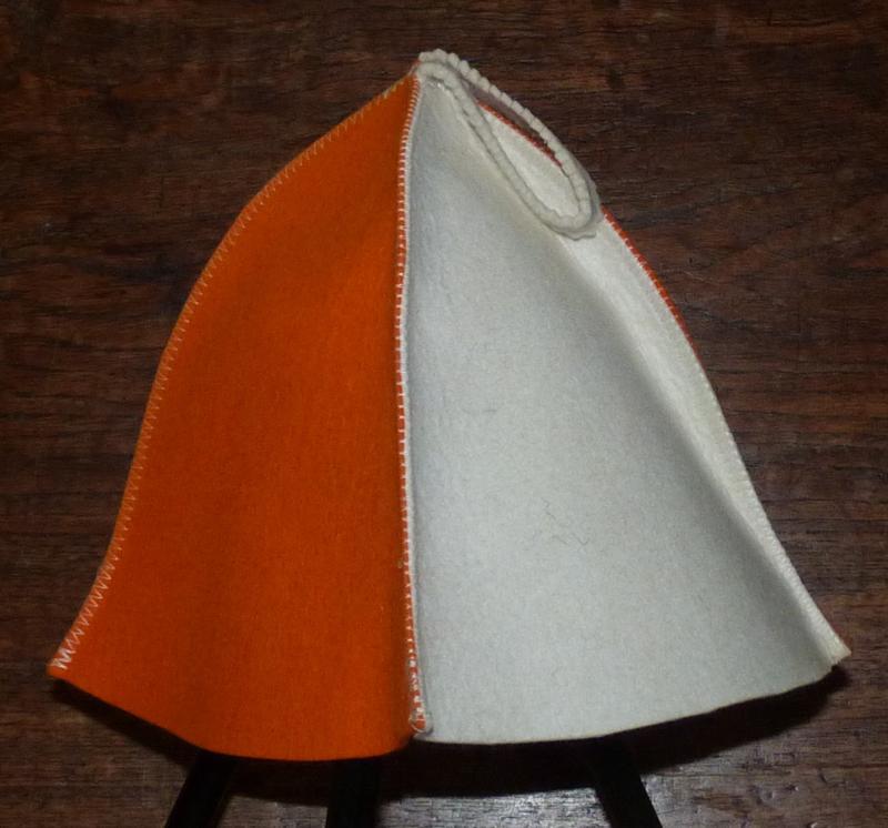 Saunahat 4 luik Oranje/wit