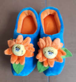 Klomp pantoffel met bloem