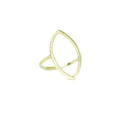 Ring in 18kt geel goud
