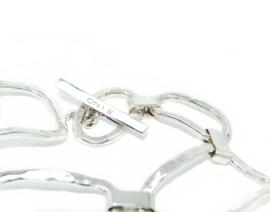 Schakelarmband Chanel nr 1,  in 925 sterling zilver