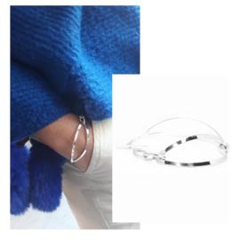Schakelarmband Chanel nr 4, 925 sterling zilver