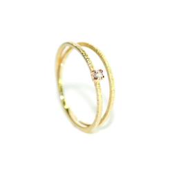 Verlovingsring in 18kt geel goud met diamant