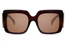 Zonnebril, kleur lens: bruin - Hoogte: 5,9cm - Breedte 14,3cm - 100% uv-bescherming, categorie 3. Deze bril wordt geleverd in een hard case