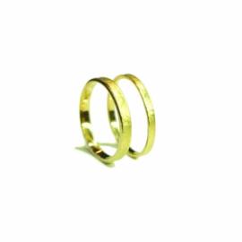 Trouwringen, 18kt geel goud, 1350€