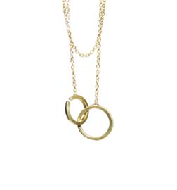 Twist hanger in 18kt geel goud