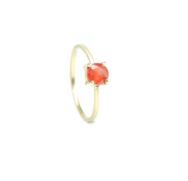 Ophelia ring, 18kt geel goud met een saffier