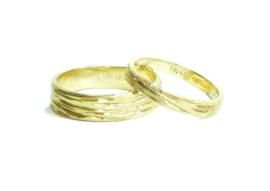 Trouwringen, 18kt geel goud, 1750€