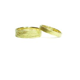 Trouwringen, 18kt geel goud, 1795€