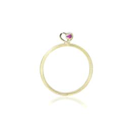 Ring in 18kt geel goud met robijn