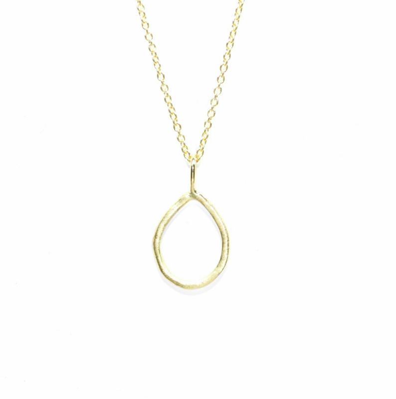 Alix hanger, 18kt geel goud