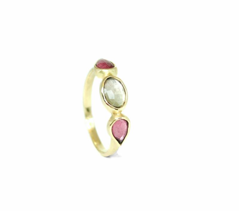Lily ring, 18kt, toermalijn