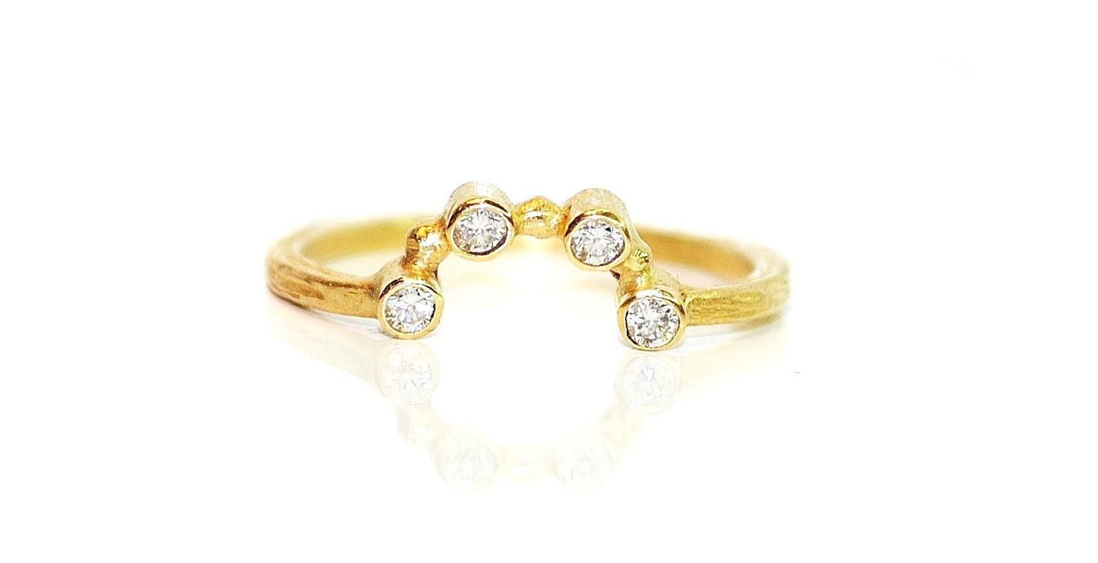 Ring in 18kt met diamant