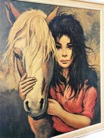 Vintage Boho Gypsy Etienne ROTH, My Pride ingelijste print