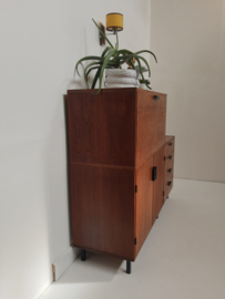 Mid century Pastoe highboard Made to measure teak wandmeubel