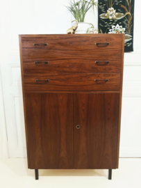 Vintage Mid Century ladekast, palisander fineer rosewood
