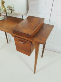 Vintage Mid Century Deens design teak kaptafel vanitytable