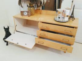 Vintage 'gloss maple' dressing side table kaptafel dressoir