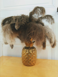 Hollywood Recency ananaslamp met struisvogelveren
