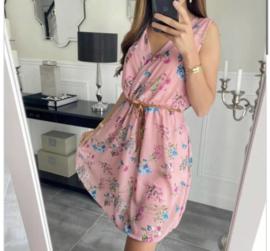 Roze gebloemde easy dress TU