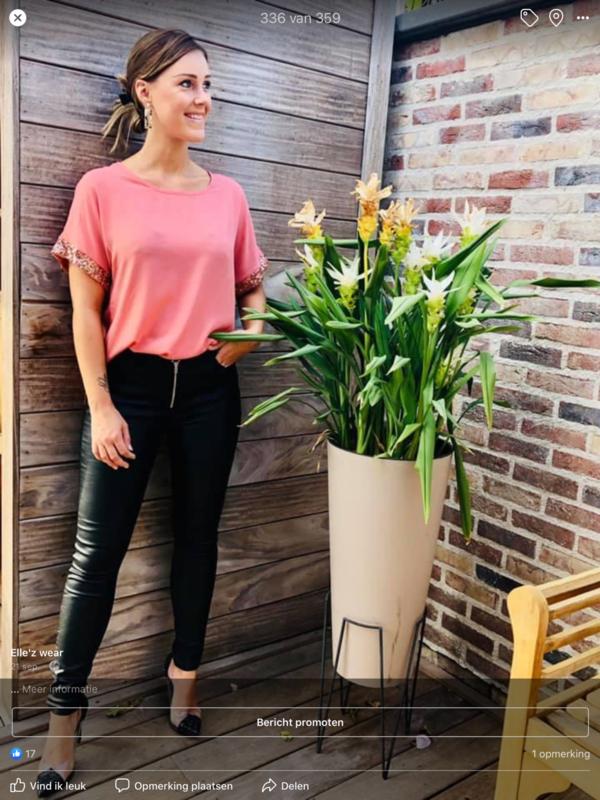 T-shirt roze Large