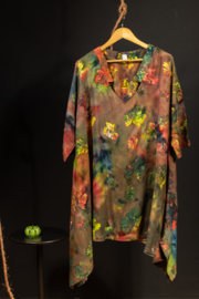 Lunas Serena Big shirt in groen tinten 50-60