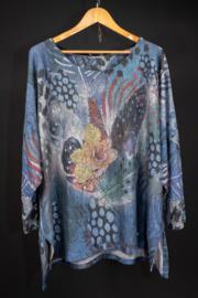 LaBass Tshirt met print in blauw 46-50