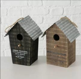 Nestkastje voor kleine vogels zwart