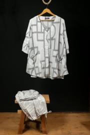 Kekoo wit jasje met print 54-56