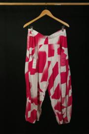 Kekoo broek met roze print 48-50