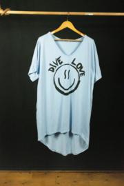 Strandshirt in lichtblauw 40-44