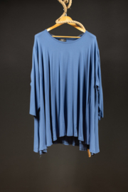 Akh big shirt in mooi blauw 50-54