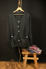 Moonsdhine kort jasje in zwart 50-58