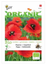 Organic Papaver, Klaproos Rood (BIO)