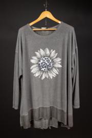 LaBass zonnebloem shirt in grijs 48-52