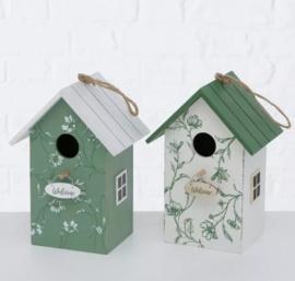 Nestkastje voor kleine vogels groen
