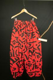 LaBass broek in rood 1 en 3