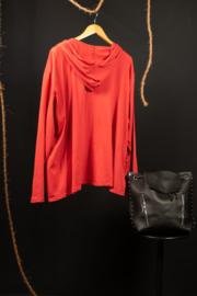 Moonshine kort jasje met capuchon rood 46-52