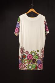 Naveed wit tuniek met print in kleuren 44-50