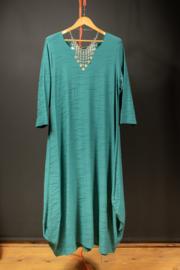 Naveed zeegroen lange jurk  48-50