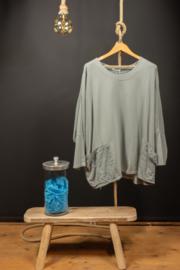 Moonshine shirt  kort in licht grijs/blauw 44-56