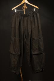 Moonshine broek met melige zakken in zwart 2 maten