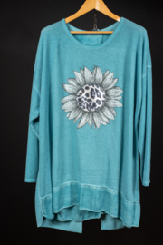 LaBass zonnebloem shirt in blauw 48-52