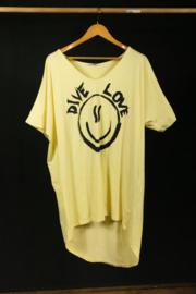 Strandshirt in geel 40-44