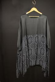 Moonshine zwart tuniek met print 50-54