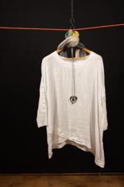 Moonshine wit shirt met armversiering