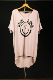 Strandshirt in zachtroze 40-44