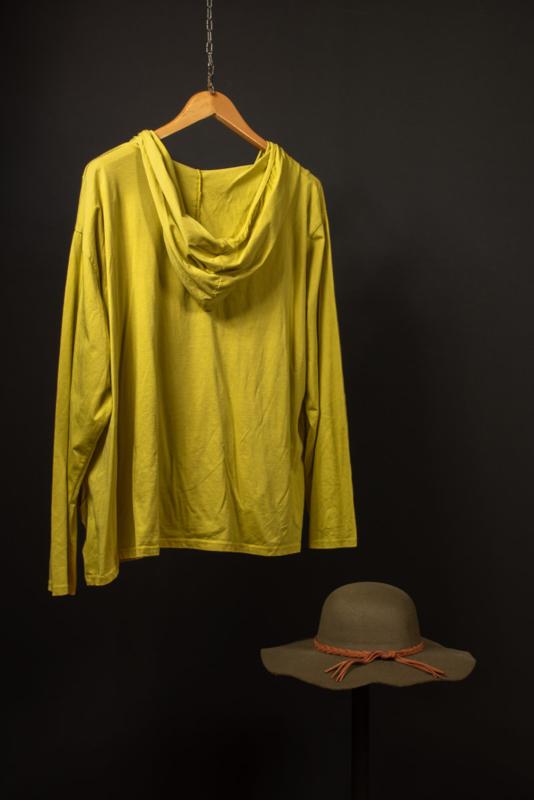 Moonshine kort jasje met capuchon geel 46-52