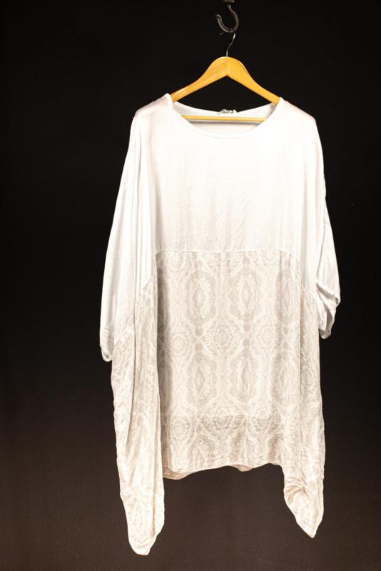Moonshine shirt wit met print 50-54